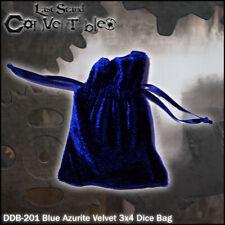 LAST STAND CONVERTIBLES - Blue Azurite Velvet 3x4 Dice Bag
