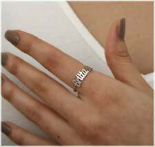 Solid Sterling Silver Custom Name Ring Single Name Ring Personalized Name Ring