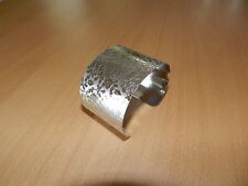 Stainless Steel Wide Adjustable Cuff Bangle Bracelet with Pattern #2