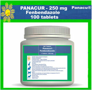 DEWORM PANACU® PANACUR 100-200 TAB/ 250 mg TABLETS DOG CAT ANIMALS Helmintazole