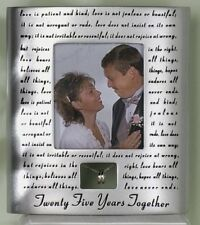 Roman 25th Silver Wedding Anniversary Picture Photo Frame, New, Free Shipping