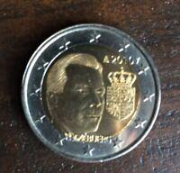 Adolphe   Commemorate  UNC Luxembourg  2 euro  2005   Grand Duke Henri