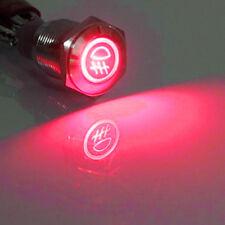 16mm 12V LED Licht tastender Knopf Metallschalter Auto Rot Nebelleuchte HY