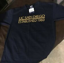 NWT! UC SAN DIEGO T-shirt JERZEES Activewear sz L Navy Officially Licensed Blue