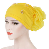 Women Muslim Stretch Turban Hat Chemo Cap Hair Loss Head Scarf Wraps Hijab Caps