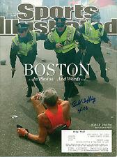 BILL IFFRIG BOSTON MARATHON SIGNED 2013 SPORTS ILLUSTRATED W/ COA BOSTON STRONG