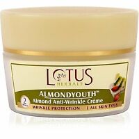 Lotus Herbals Almond Youth Anti Wrinkle Cream (50g),free shiping