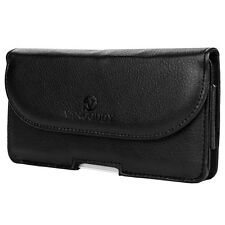 Black Leather Belt Clip Holster Wallet Case Phone Pouch for Samsung Galaxy Note8