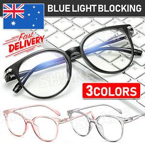 Blue light Blocking Computer Gaming Glasses Spectacles Anti Eyestrain Eyewear AU