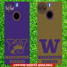 Washington Huskies Corn hole Set of 6 Vinyl Decal Stickers cornhole decals board