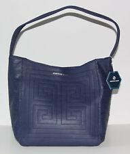NWT Jonathan Adler Leather Nixon Astor Hobo Navy Blue Handbag Purse $278.00