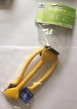 "NEW Yellow UV Premium Round Floppy Cable 24"" 3 Connector"