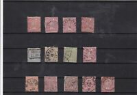 north german confederation 1868-69  used  stamps  ref 7491