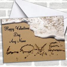 Love Sand Beach San valentino carta personalizzati