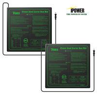 iPower MET Certified Seedling Heat Mat Seed Starter Pad Germination 2-Pack