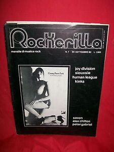ROCKERILLA 7 1980 Joy Division Siouxsie Human League The Kinks Saxon etc.