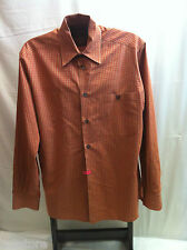 Ermenegildo Zegna Long Sleeve Cotton Blend Dress Casual Shirt Mens Size S
