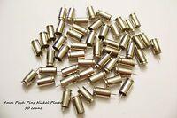9mm Luger Bullet Push Pins Set of (50) 9 mm Nickel Polished Push Pins