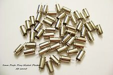 9mm Luger Bullet Push Pins Set of (50) 9 mm Nickel Polished Push Pins