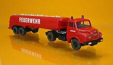 """Wiking 086142 MAN Kurzhauber Tanksattelzug """" Feuerwehr """""""