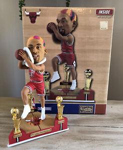 "DENNIS ""The Worm"" RODMAN Chicago Bulls 3x NBA Champ Trophy Bobblehead #/360 NIB!"