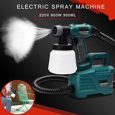 800W Electric Painter Gun Spray Latex Paint Sprayer House Painting Machine 900ML