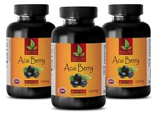 Metabolism boost - ACAI BERRY 1200MG 3 Bottles - acai extract pills diet