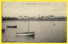 cpa Bretagne 56 - SAINT PIERRE QUIBERON (Morbihan) Vue générale de la PLAGE