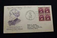 PATRIOTIC COVER 1936 1ST DAY ISSUE 16TH ANNIV WOMEN'S RIGHT TO VOTE (1143)