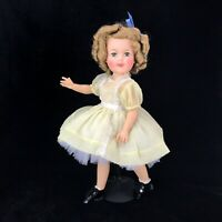 "Ideal Shirley Temple 17"" Vinyl - Yellow Dress w/ White Lace"
