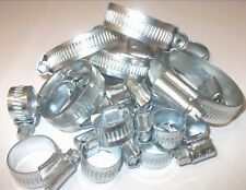 30 Assorted Hose Clips. Fuel, Water, Jubilee Type Zinc New Various Sizes 8-25mm.