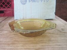 "Pale Yellow/Gold "" Depression Serving Bowl, 6 3/4""wide with a Square Design"