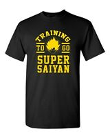 Training To Go Super Saiyan Goku Anime Funny Humor Parody DT Adult T-Shirt Tee