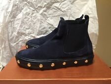 NIB Baldinini Studded Ankle Boots, Navy Blue/Gold, 35/5