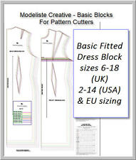BASIC BLOCKS- FOR PATTERN CUTTERS- Design Your Own Patterns! DRESS BLOCK- 6 -18