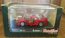 FERRARI F40 RED DETAILCARS ART 150 1:43 FROM COLLECTION NIB Die Cast