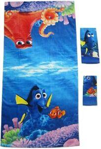 Finding Nemo Dory 3-piece Bath Hand Fingertip Towel Set Beach Pool Child Gift