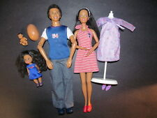 Happy Family LOT African American Pregnant Midge Belly Baby Deboxed Fashions AA