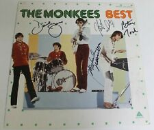 "THE MONKEES Signed Autograph ""Best"" Album Vinyl LP x4 Davy Jones, Nesmith, Tork"