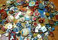 LOT of 50 pcs USSR SOVIET ERA VINTAGE ENAMEL PINS BADGES COLD WAR COMMUNISM CCCP