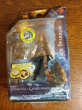 "Pirates Caribbean Jack Sparrow 4"" Action Figure Jakks Pacific NIB Movie 2011"