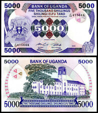 UGANDA 5000 5,000 SHILLINGS 1986 P 24 UNC
