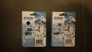 Epson 27XXL Black - Alarm Clock T2791 & Epson 27XL CMY Colour Multipack!