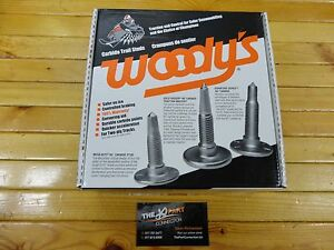"""144 NEW WOODY'S SIGNATURE SERIES CARBIDE STUDS WITH BIG NUTS 1.450"""" LENGTH"""