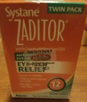 Systane Zaditor Antihistamine Eye Drops 5ml, Twin Pack,exp 2022