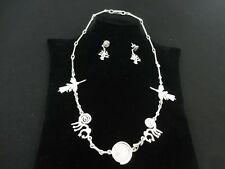 - Nasca Line Geoglyphs Design Peruvian Sterling Silver Necklace & Earings