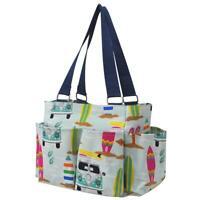 Surf Beach NGIL Small Zippered canvas purse Caddy Organizer Tote Bag Free Ship!
