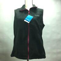 Columbia Benton Springs Vest Womens WL1023-011 Black Fleece Vest Size L/G