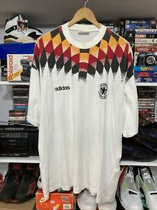 Vintage 1994 adidas Germany Futbol World Cup Jersey Shirt Size Large