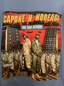 SUPREME X Capone N Noreaga War Report Anniversary Tee Blue Size: L